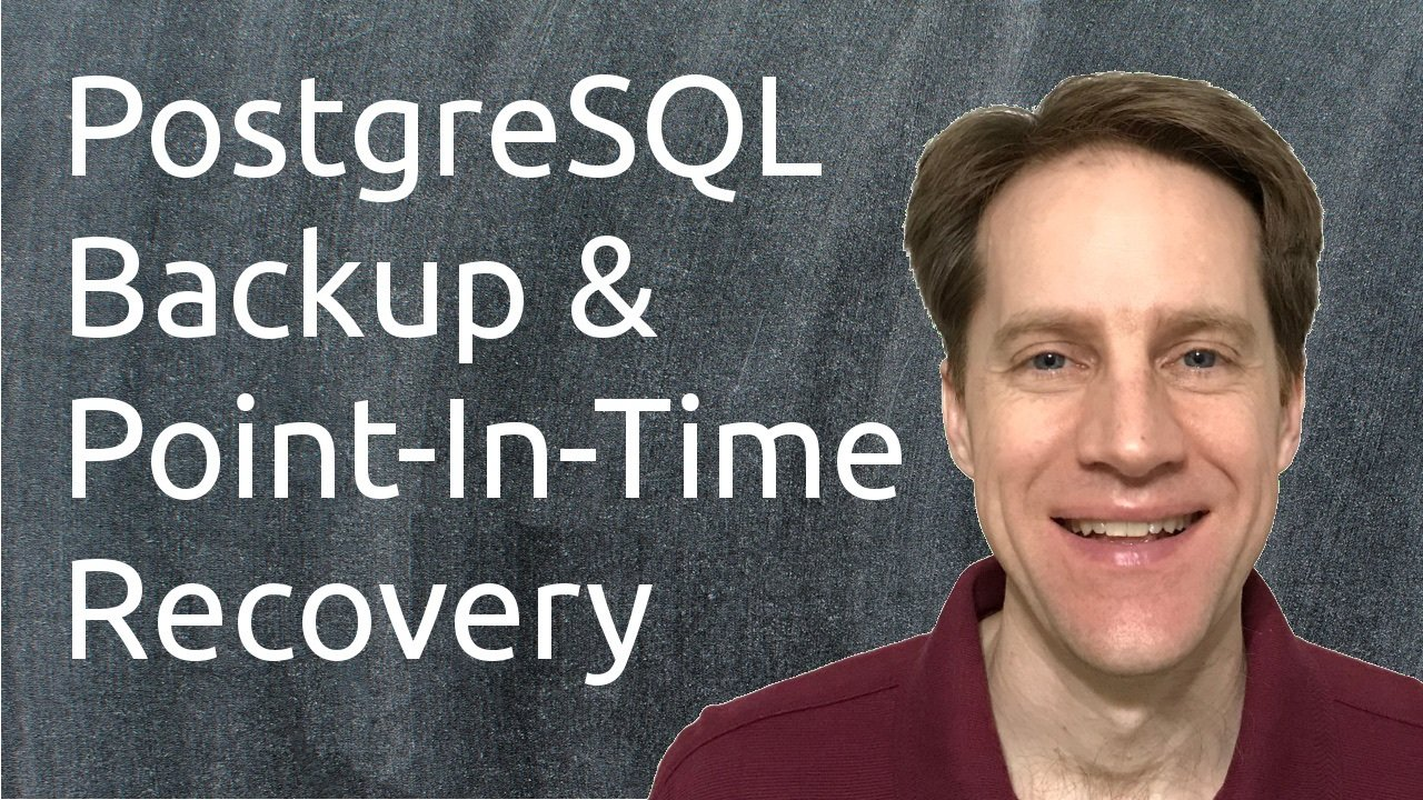 Postgresql backup point in time recovery